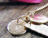 personalized initial tiny dot hand stamped alphabet 14 kt gold fill
