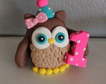 Custom Owl Cake Topper for Birthday or Baby Shower