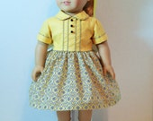"""1950s Era Dress with Bodice Details for 18"""" Dolls"""