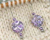 Stitch Markers, Knitting, Mosaic Stone, Snag Free, Lavender, Jeweled Tool, Knitting Accessory, Knitting Tool, Handmade, Gift for Knitters