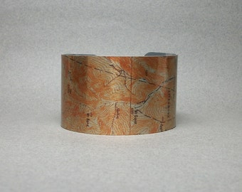New Hampshire Twin Mountain Appalachian Trail Map Cuff Bracelet for Men or Women