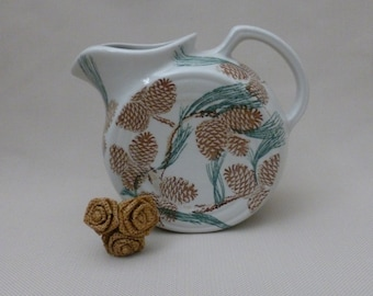 REDUCED FROM 375.00 Vintage Tepco Needles & Pine Disc Pitcher