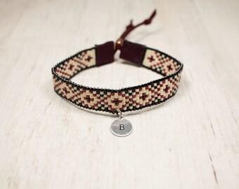 Initial Bracelet - Boho Bracelet - Letter Bracelet - Gifts For Her - Adjustable Bracelet - Personalized Bracelet - Under 25