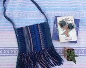 woven knit ethnic crossbody purse bag