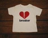 Heart Breaker Valentines Shirt Boy Girl Heart Valentine Love  Red Hearts Vday Shirt -- TODDLER sizes