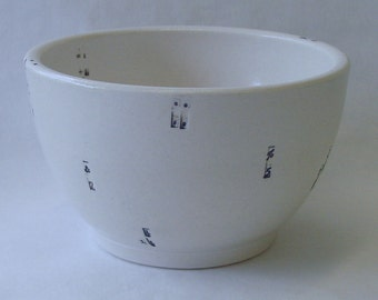 Typewriter Key Porcelain Bowl