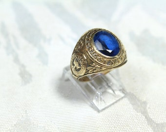 Vintage 10k Mary Louis Academy College Ring 1950's