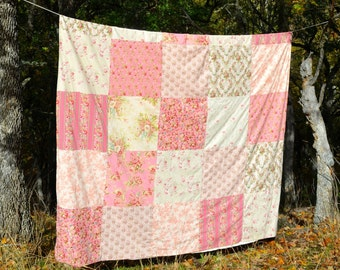 Shabby Chic Duvet Cover Queen Size Patchwork Pink Roses