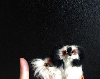 collectible real life miniature dog figurine // fur