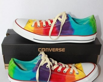 Tie Dye Converse All Star Chuck Taylor Shoes Low Top and High Top Custom