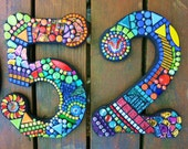"13"" Tall - LARGER CUSTOM Made Mosaic House Numbers - Order Your 13"" Size Numbers From This Listing / FREE Shipping on This Size & Larger"