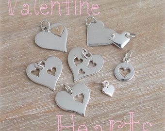 Sterling Silver Hearts Necklace Custom / Valentine Necklace Gift / Set of 3 necklaces / Reserved