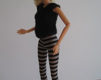 Barbie Striped Leggings Outfit