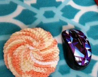 "RTS Hand made cotton spiral large 3 1/2"" Scrubbie Scrubber Tawashi Wash dishes bath Shower Body Spa Dishwashing Clean Cleaner Bathtub Gift"