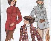 Vogue 9589 Misses Shirt Jacket Sewing Pattern Bust 34