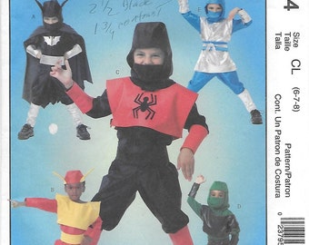 McCall's 4694 Super Heroes Costume Sewing Pattern Size 6 to 8, Chest/Breast 25 to 27
