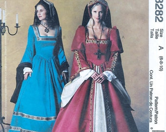 McCall's 3282 Women's Tudor Costume Sewing Pattern Bust 30 to 32