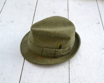 1960s Adam Olive Green Trilby Fedora
