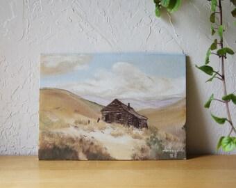 Original Artwork, Acrylic Painting // High Desert Barn