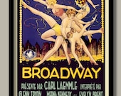 Art Deco Movie Poster. Broadway 1929 French Poster Large B2 (50x70cm) Print