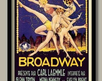 Art Deco Movie Poster.. 1920s New York. Large movie poster. Dancers poster. B2 size. 70x 50 cm. Vintage movie posters. Art Deco style.