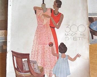 "1930 Vintage French Fashion Magazine ""Le Jardin des Modes"" Sewing Pattern Edition  June 1930"