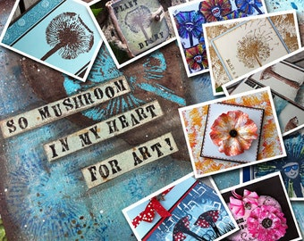 10 Online Classes + Rubber Stamps - All in One!