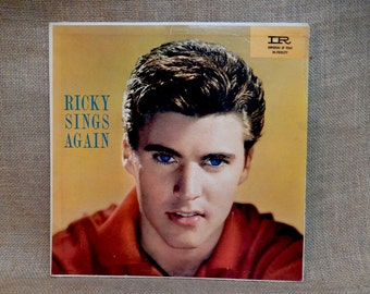 Rick Nelson - Ricky Sings Again - 1959 Vintage Vinyl Record Album