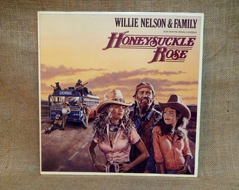 WILLIE NELSON and  FAMILy - Honeysuckle Rose...Soundtrack -  1980 Vintage Vinyl 2lp GATEfold Record Album