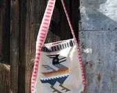 Rustic Woven Boho Tote Bag