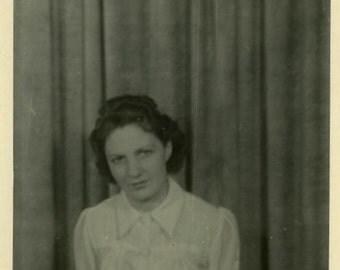 "Vintage Photo ""Midnight Guest"" Snapshot Photo Old Antique Photo Black & White Photograph Found Photo Paper Ephemera Vernacular - 100"
