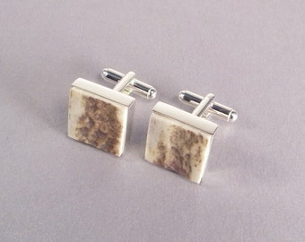 Elk Antler Cufflinks SHIPS IMMEDIATELY Handmade Elk Antler Cuff Links Antler Gifts for Him Gifts for Dad Fathers Day Birthday Gifts for Him