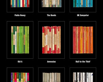 HALF PRICE: All 9 Radiohead Albums As Books Poster Prints 50% off with FREE Shipping