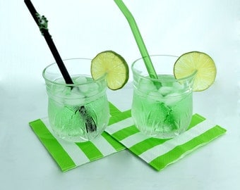 Fat Frog Drinking Buddy Glass Straw Gift Set- 2 Straws- Free Cleaning Brush and Gift Wrap- Fat Frog Cocktail Drink Recipe Card