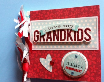 Grandma brag book scrapbook album premade brag book gift for grandma