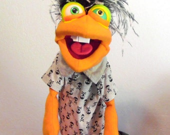Emo hand puppet or ventriloquist figure professional