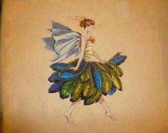 Finished Cross Stitch-The Feather Fairy