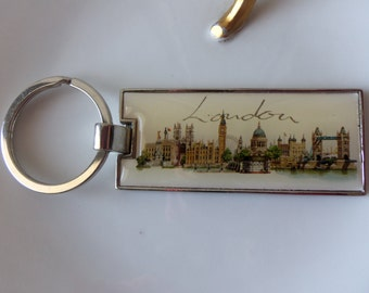 London Keychain - Vintage Keychain, Father's Day, Birthday, Gift Idea, London Skyline, Man Cave, Display, Collectible