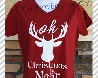 Oh Deer Christmas Is Near Tee