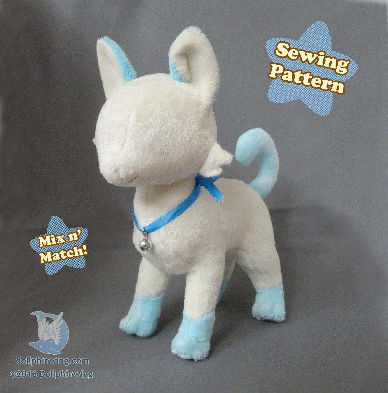 Stuffed Cat Animal Pattern