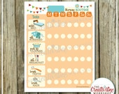 DAILY Morning Routine Chart | EDITABLE NAME | Printable Morning Chart | Orange Theme |  Routine Chart | Task Chart | Monday to Sunday