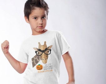 This Is My Costume!  - Funny Halloween Shirt or Infant One-piece - Giraffe Wearing Bat Glasses Shirts for the family - Create a Matching Set