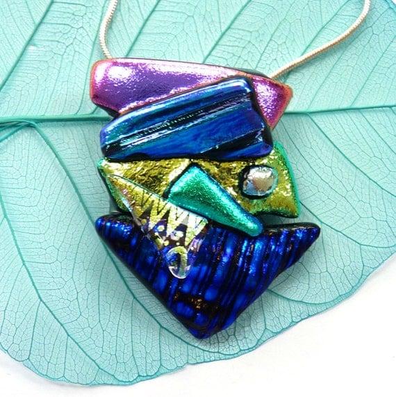 Fused Glass Jewelry Etsy Uk