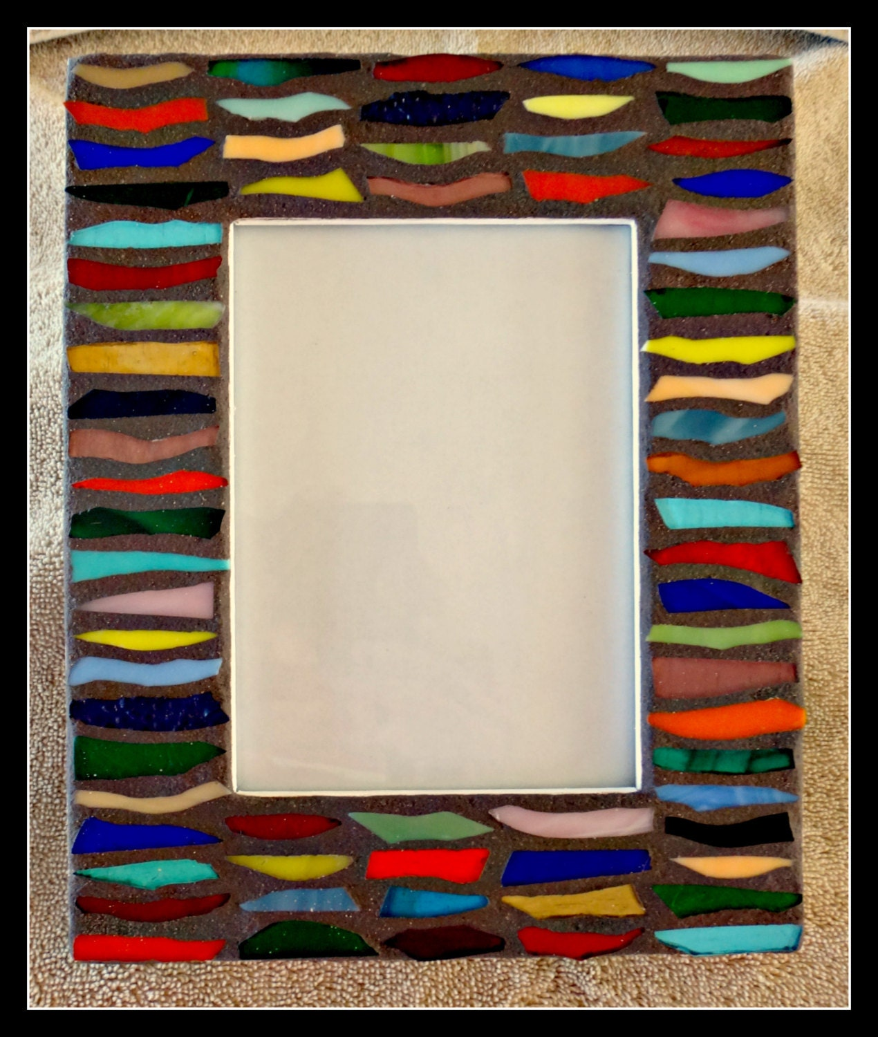 multicolored stained glass picture frame. Black Bedroom Furniture Sets. Home Design Ideas