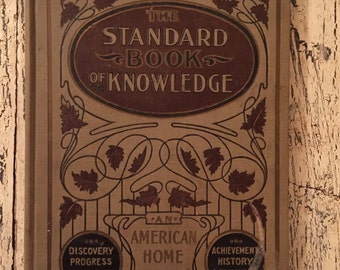 Vintage Children's Book of Facts - The Standard Book of Knowledge - 1904