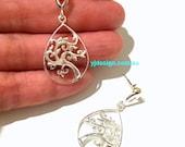 Tree Earrings, Sterling Silver Earrings, Life Earrings, Leaves Earrings, Minimalist Jewelry, Dangle Earrings, Birthday Gift for Her, KLIMT
