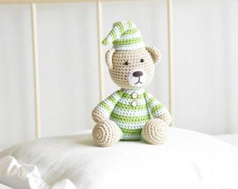 PATTERN - Pajamas teddy - crochet pattern, amigurumi pattern, PDF