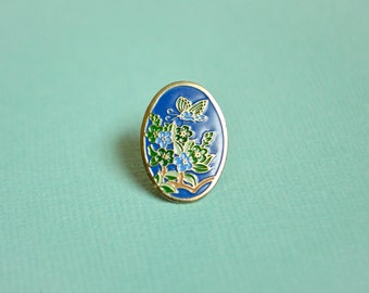 Butterfly Enamel Pin 2 - Lapel Pin - Soft Enamel - Vintage Enamel Pin - Pin Badge - Flowers - Butterfly Jewelry - Flair