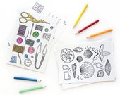 Coloring Postcards Set No. 2 | Treasures and Collections Coloring Book Postcards