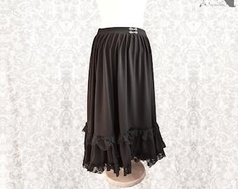 Skirt, Victorian, Steampunk, romantic goth, black skirt, Devota, Somnia Romantica, size large see item details for measurements